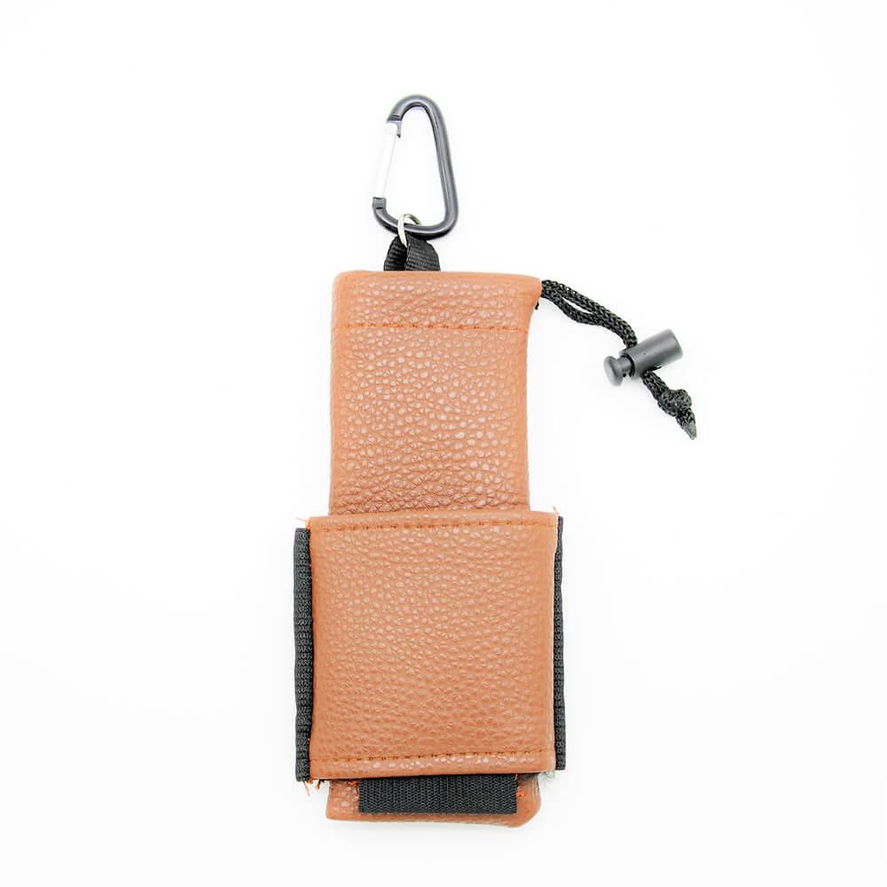Sacoche cigarette électronique cuir marron
