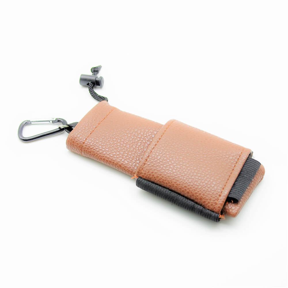 Sac de transport kit cigarette électronique cuir marron