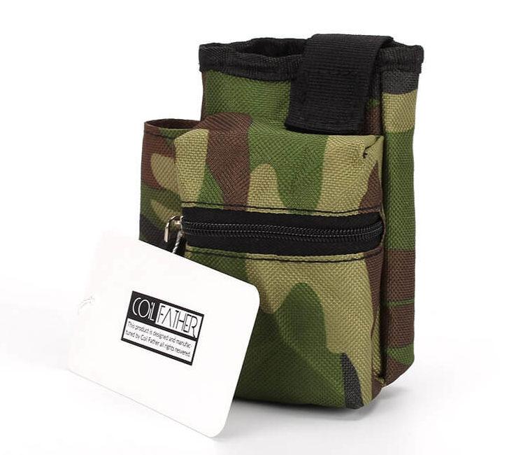 Sacoche rangement kit cigarette électronique couleur army camouflage