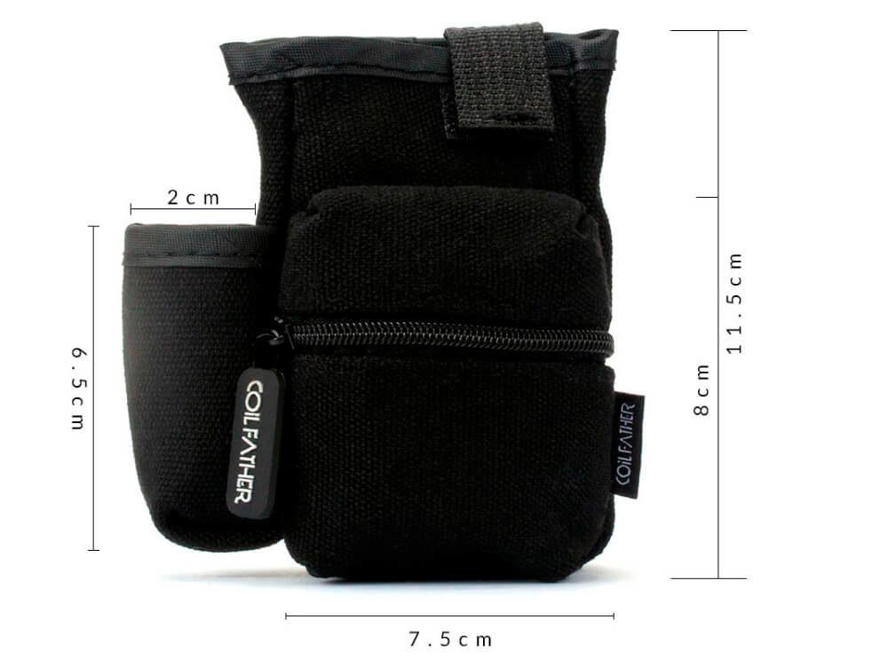 Dimensions sacoche rangement kit cigarette électronique couleur noir
