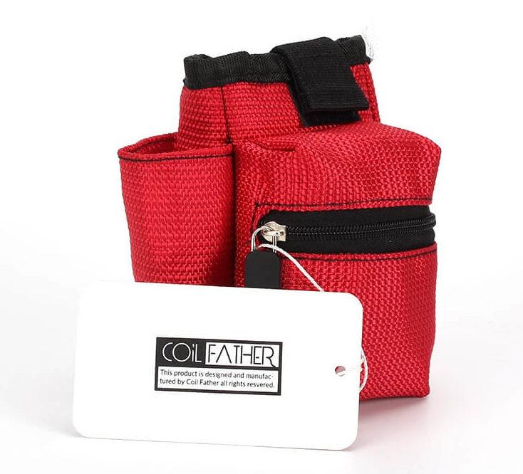 Sacoche rangement kit cigarette électronique couleur rouge