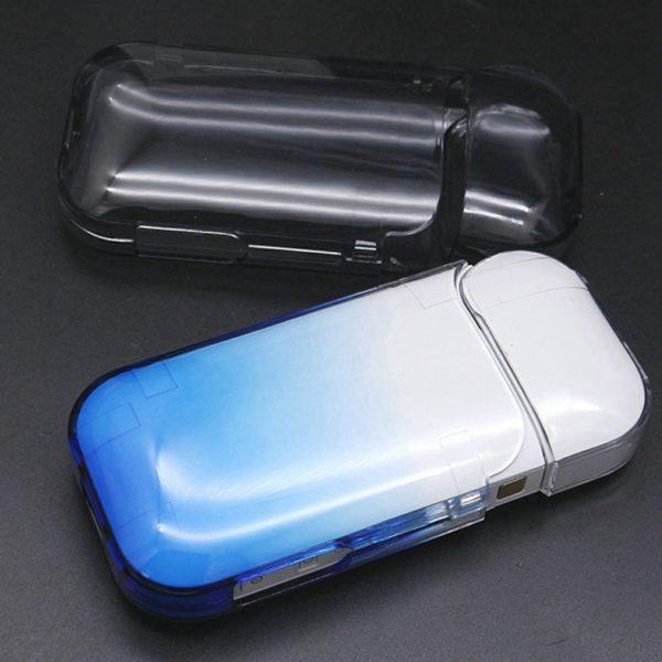 Étui transparent bleu pour cigarette électronique iQOS