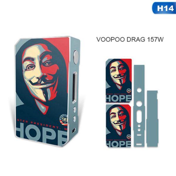 Sticker Anonymous pour box VooPoo Box Mod Drag 157 W TC