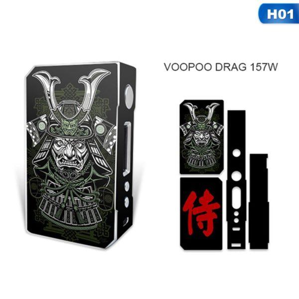 Sticker samouraï pour box VooPoo Box Mod Drag 157 W TC