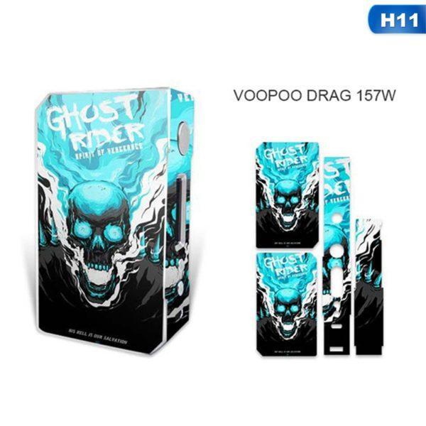 Sticker tête de squelette pour box VooPoo Box Mod Drag 157 W TC