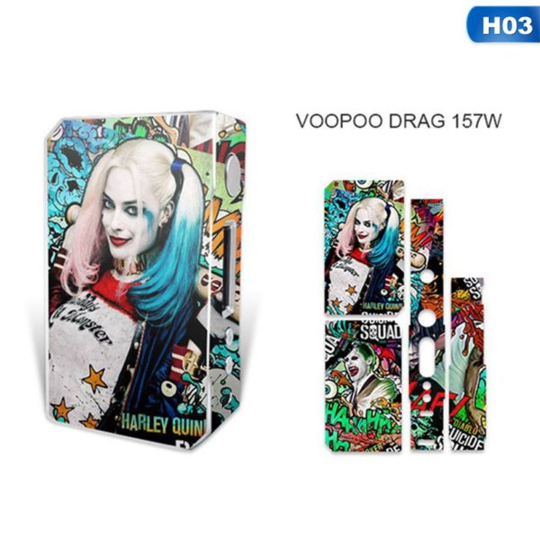 Sticker Harley Quinn pour box VooPoo Box Mod Drag 157 W TC