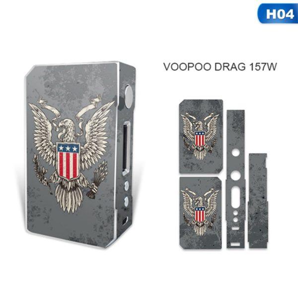 Sticker aigle drapeau américain pour box VooPoo Box Mod Drag 157 W TC