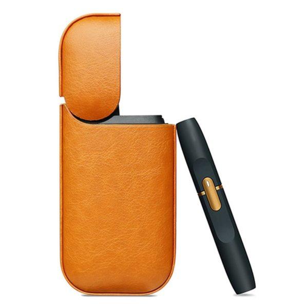 Étui élégant IQOS cuir orange