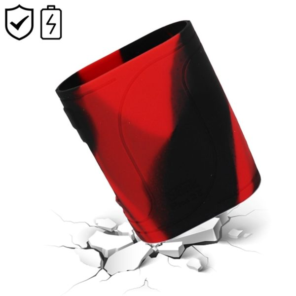Étui silicone rouge et noir box mod Eleaf